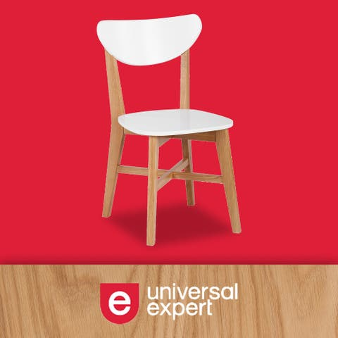 Universal Expert Abacus Chair, Modern Oak and White