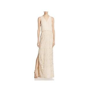 Aidan by Aidan Mattox Womens Formal Dress Chiffon Metallic