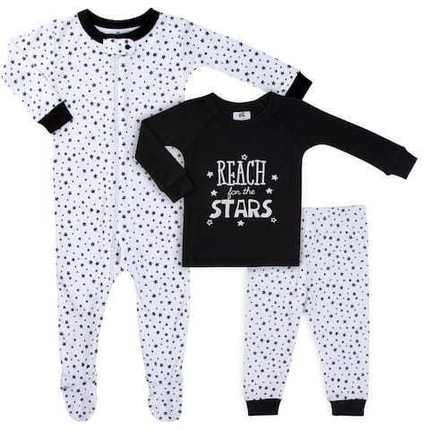 Just Born Stars 3-Piece Pajama Set