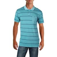 RVCA Mens Polo Knit Striped