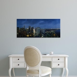 Easy Art Prints Panoramic Images's 'View of buildings in a city lit up at night, New Orleans, Louisiana' Canvas Art