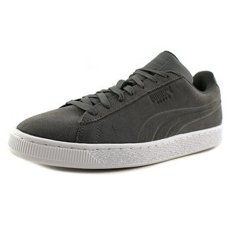 Puma Suede Classic Embossed Men  Round Toe Leather Gray Sneakers