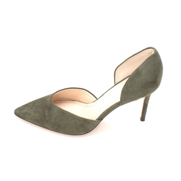 Marc Fisher Womens TAMMY2 Suede Pointed Toe D-orsay Pumps