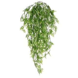 "Pack of 6 Decorative Green Mini Ficus Artificial Trailing Bush 26"""