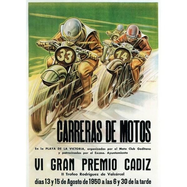 Motorcycle Racing - Vintage Advertisement (100% Cotton Towel Absorbent)