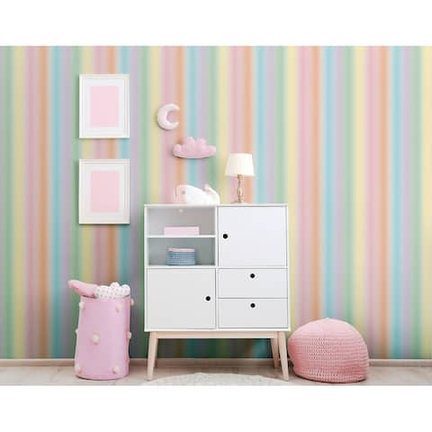 Arthouse Rainbow Stripe Unpasted Wallpaper