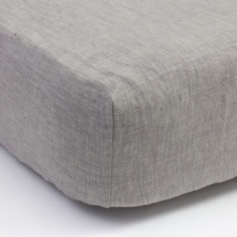 Cottage Home Grey Chambray Linen Box Spring Cover