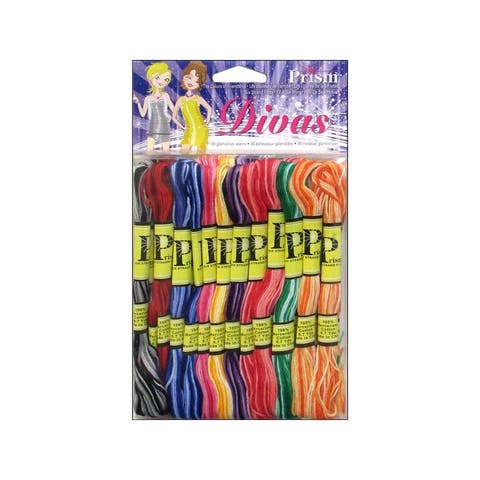 Prismvar prism floss pack six strand variegated 36pc