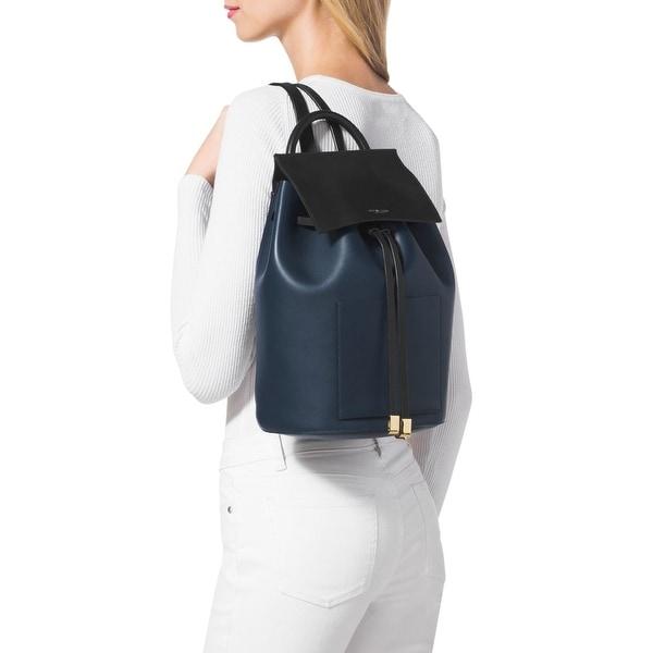 3f28a6b86494db Shop Michael Kors Miranda Indigo French Calf Leather Backpack - Free ...