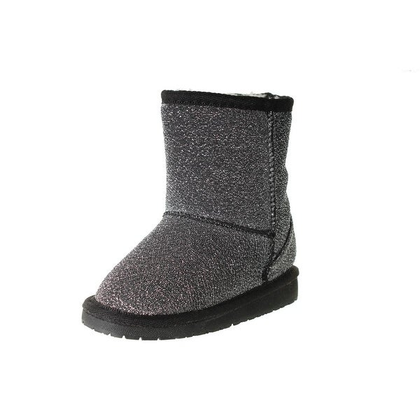 Dawgs Girls Frost Casual Boots Faux Fur Lined Glitter