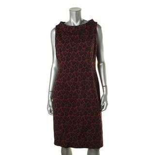 Anne Klein Womens Printed Sleeveless Wear to Work Dress - 12