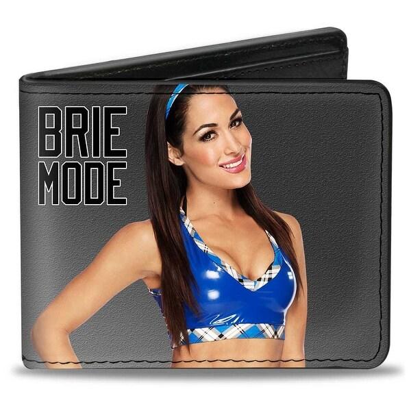 Brie Bella Vivid Pose Brie Mode + Autograph Gray Black Bi Fold Wallet - One Size Fits most