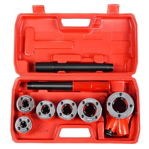 Ratchet Ratcheting Pipe Threader Kit Set