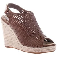 Madeline Women's Minimal Wedge Sandal Walnut Synthetic