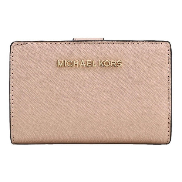 53f3008ad07a Shop Michael Kors Jet Set Travel Bifold Zip Coin Saffiano Leather ...
