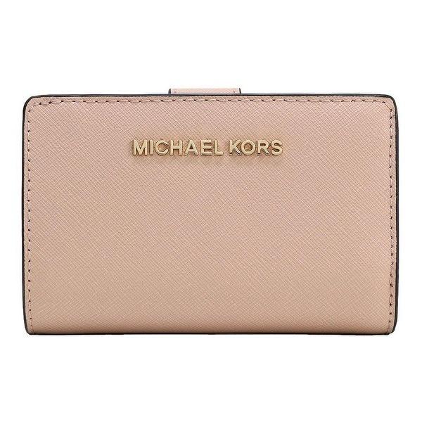 82a1b0ffb054 Shop Michael Kors Jet Set Travel Bifold Zip Coin Saffiano Leather ...