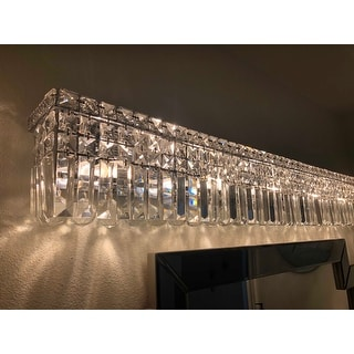 Shop Glam Art Deco Style 10 Light Chrome Finish And Clear