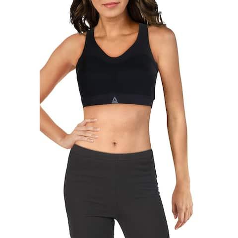 Reebok Womens Puremove Sports Bra Fitness Workout - Black