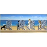 ''Beach Chair Tails'' by Carol Saxe Fairfield Art Publishing Art Print (8.5 x 20.5 in.)