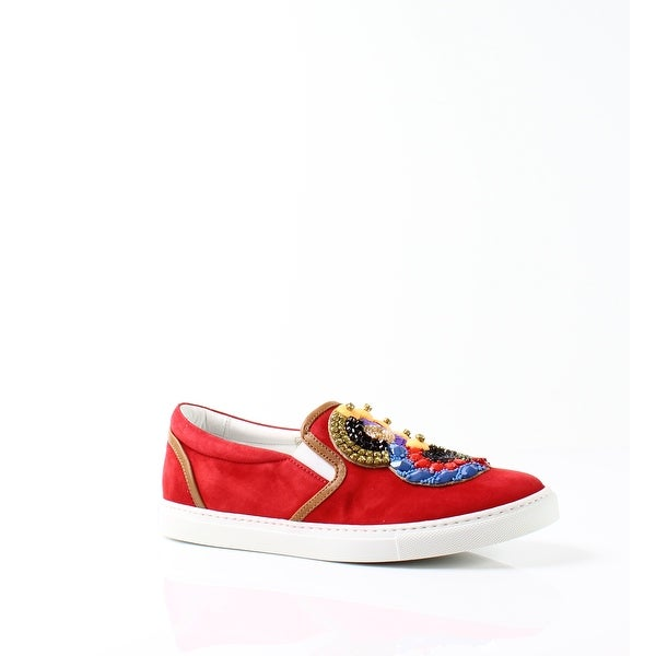 DSquared2 NEW Red Womens Shoes Size 8.5M Embroidered Sneaker