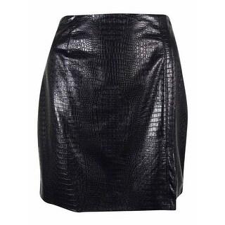 Guess Women's Faux Leather Hi Waist Mini Skirt