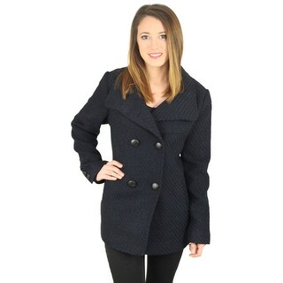 Jessica Simpson Women's Braided Double Breasted Wool Coat