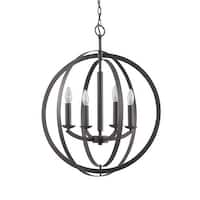 Woodbridge Lighting 14420 4 Light 1 Tier Candle Style Globe Chandelier from the Lola Collection