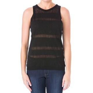 Sanctuary Womens Linen Blend Illusion Striped Sweater Vest
