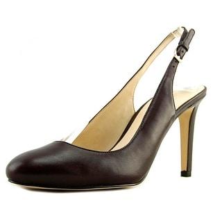 Nine West Holiday   Round Toe Leather  Slingback Heel