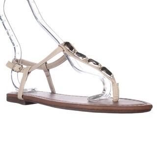 143 Girl Pivari Jeweled T-Strap Thong Sandals - Light Taupe