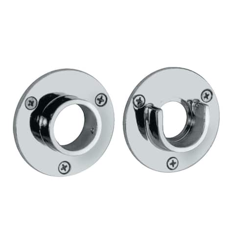 Gatco 833 Pair of Wall Flanges for Shower Bar - - Chrome