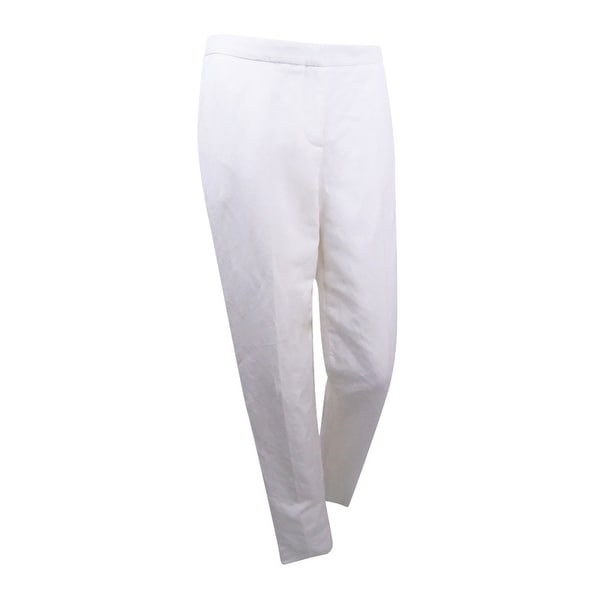 4c6c9e508344b1 Shop Tommy Hilfiger Women's Straight-Leg Linen Trousers - Ivory - Free  Shipping Today - Overstock - 21666646