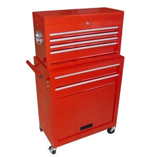vidaXL Tool Chest with 7 Drawers Steel Red