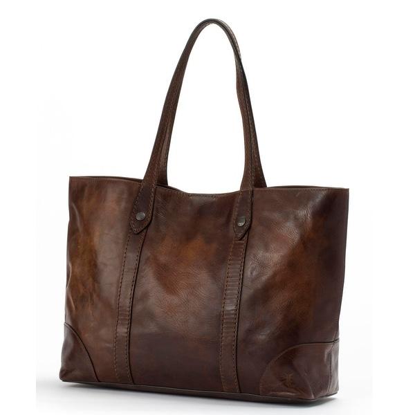 Frye Womens Melissa Shopper Bag, Dark Brown, Os