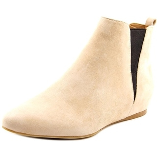 Calvin Klein Magica   Round Toe Suede  Ankle Boot