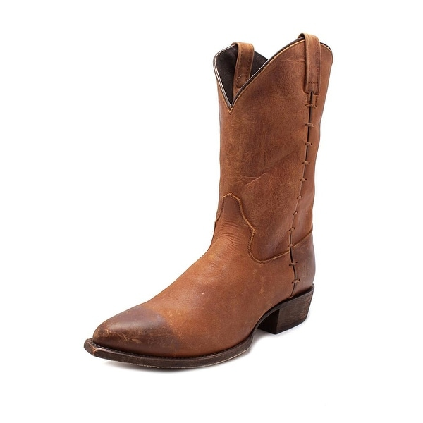 Independent Boot Company Federal Men Pointed Toe Leather Brown Western Boot