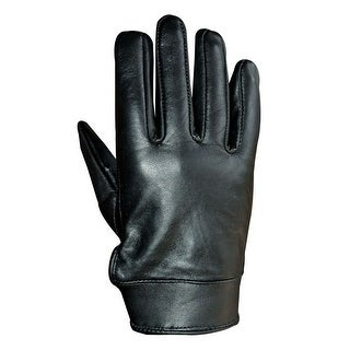 Unisex Soft Lambskin Leather Driving, Formal Dress Fashion Everyday Gloves Black FG4