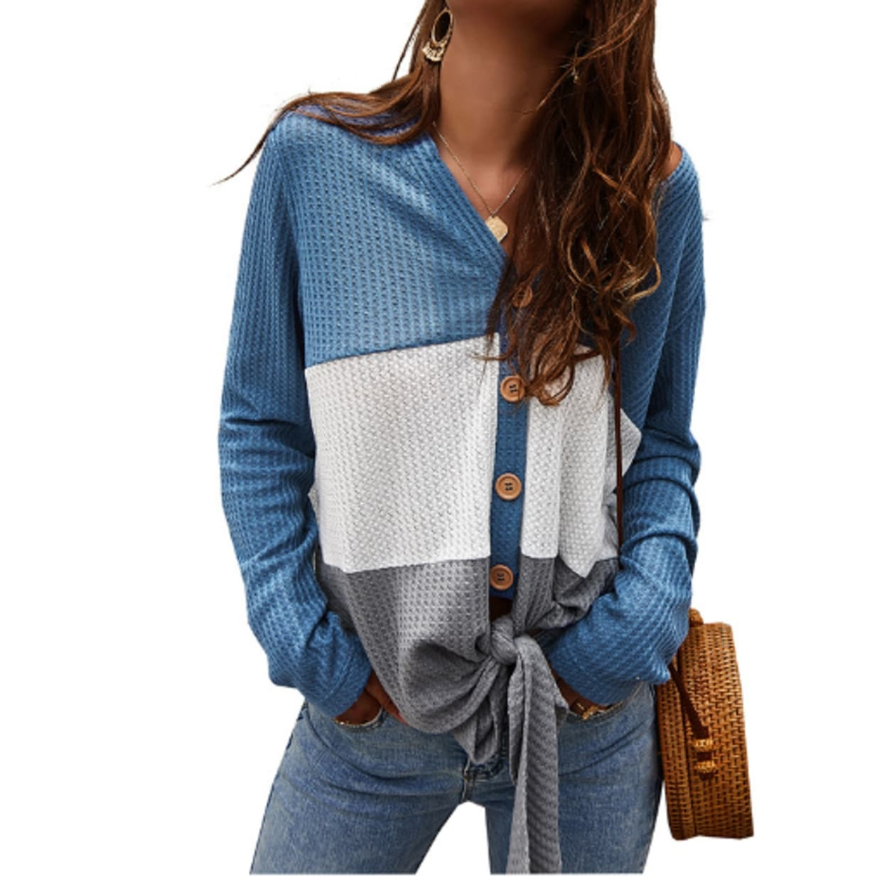Womens Cardigan Cable Knit Button Down Chunky Sweater Coats