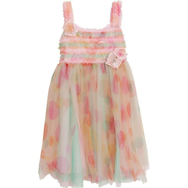 Isobella & Chloe Baby Girls Cotton Candy Confetti Empire Waist Dress 12M-24M
