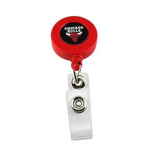 Chicago Bulls Retractable Badge Reel Id Ticket Clip