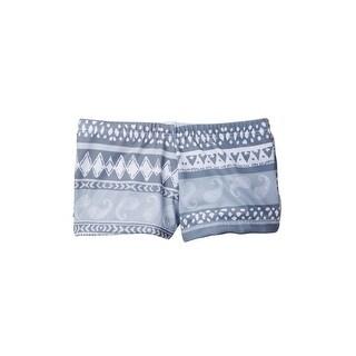 Azul Unisex Baby Grey Skipping Rocks Print Lycra Swimmer Shorts