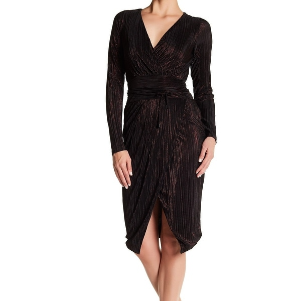 1464fe274274 Rachel Rachel Roy NEW Black Foil Women  x27 s Size Medium M Faux Wrap
