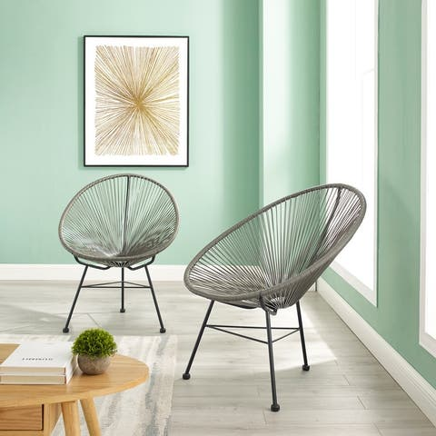 Sarcelles Modern Wicker Chairs (Set of 2)