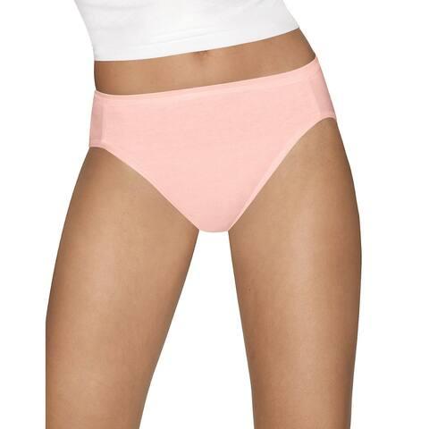 Hanes Ultimate⢠Comfort Cotton Hi-Cut Panties 5-Pack
