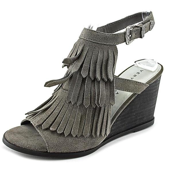 Very Volatile Notion Women Open Toe Suede Wedge Sandal