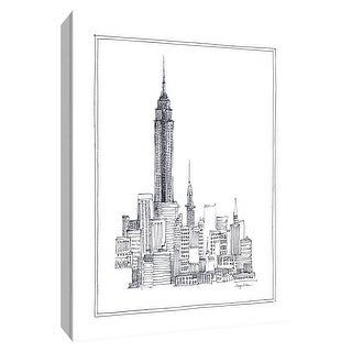 """PTM Images 9-154769  PTM Canvas Collection 10"""" x 8"""" - """"Empire State"""" Giclee Empire State Building Art Print on Canvas"""