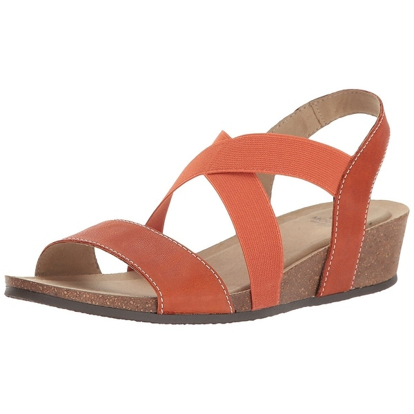 White Mountain Womens CARLISA Fabric Open Toe Casual Strappy Sandals