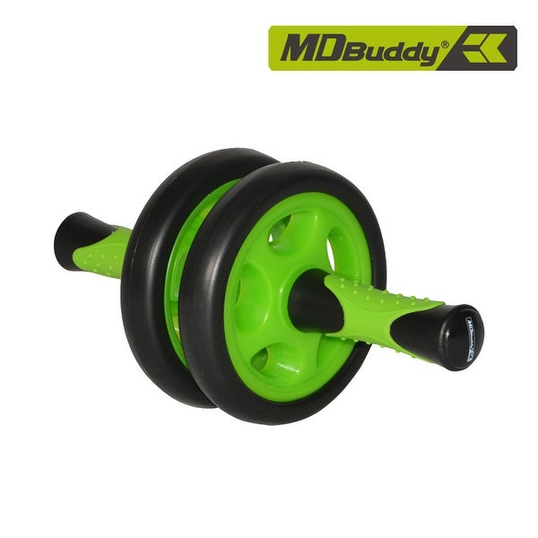 Dual Wheel Ab Roller Mute Abdominal Core Trainer Equipment. Opens flyout.