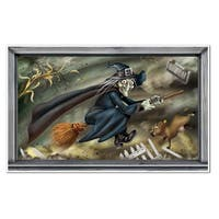 """Pack of 6 Flying Witch Horror Insta-View Halloween Wall Decor 40"""" x 64"""" - Black"""