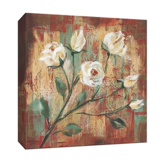 """PTM Images 9-153412  PTM Canvas Collection 12"""" x 12"""" - """"Flowers from the Garden III"""" Giclee Flowers Art Print on Canvas"""